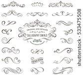 vector calligraphy swirls ... | Shutterstock .eps vector #533475508