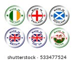collection of round labels made ... | Shutterstock .eps vector #533477524
