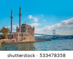 ortakoy mosque and bosphorus... | Shutterstock . vector #533478358
