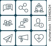 set of 9 social icons. can be...