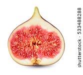 Fresh Fig. Half Of Fruit...
