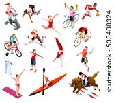 isometric vector athletic sport ... | Shutterstock .eps vector #533488324