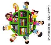 children of different... | Shutterstock .eps vector #533489944