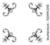 vintage baroque corner ornament ... | Shutterstock .eps vector #533491540