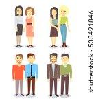 set of vector gay lgbt happy... | Shutterstock .eps vector #533491846