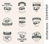 set of classic car logo ... | Shutterstock .eps vector #533494969