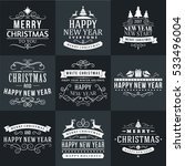 set of merry christmas and... | Shutterstock .eps vector #533496004