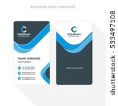 vertical double sided business...   Shutterstock .eps vector #533497108