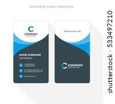 vertical double sided business...   Shutterstock .eps vector #533497210