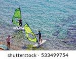 Windsurfing On Adriatic Sea ...