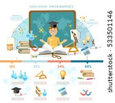 education infographic elements... | Shutterstock .eps vector #533501146
