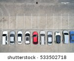 empty parking lots  aerial view.   Shutterstock . vector #533502718