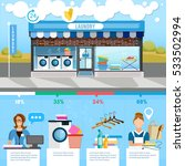 laundry service infographic ... | Shutterstock .eps vector #533502994