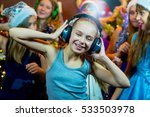 group of cheerful young girls... | Shutterstock . vector #533503978