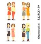set of happy gay lgbt women... | Shutterstock .eps vector #533505469
