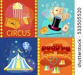 circus set icon. magician... | Shutterstock .eps vector #533505520