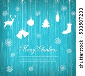 christmas composition with... | Shutterstock .eps vector #533507233
