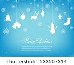 christmas composition with... | Shutterstock .eps vector #533507314