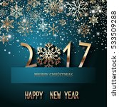happy new year 2017 text design.... | Shutterstock .eps vector #533509288