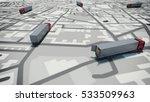 gps tracking. 3d rendering | Shutterstock . vector #533509963