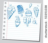 scribble ice creams | Shutterstock .eps vector #53351038