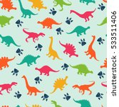 cute kids pattern for girls and ... | Shutterstock .eps vector #533511406