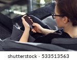 internet phone  women are... | Shutterstock . vector #533513563