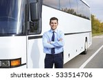 male driver standing in front... | Shutterstock . vector #533514706