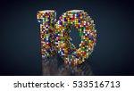 3d rendering  number 10 made... | Shutterstock . vector #533516713