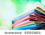 file folder against green...   Shutterstock . vector #533523823