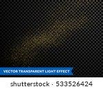 glitter particles effect. gold... | Shutterstock .eps vector #533526424