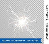 Thunder lightning flash light on transparent background. Vector realistic electricity ball lightning storm or thunderbolt in sky. Natural phenomenon illustration of human nerve or neural cells system