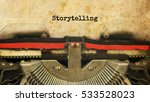 Storytelling Typed Words On A...