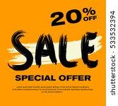orange sale banner. special...