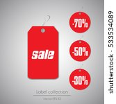 label hanging tag collection... | Shutterstock .eps vector #533534089