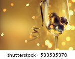 wine glass filled with... | Shutterstock . vector #533535370