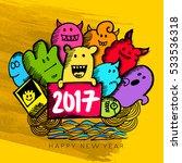 happy ghost cartoon doodle set... | Shutterstock .eps vector #533536318