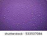 Drops Of Water On Purple...