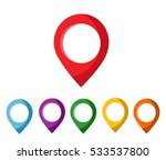 mapping pins icon | Shutterstock .eps vector #533537800