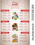restaurant vertical color sushi ... | Shutterstock .eps vector #533538184