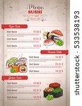 Restaurant Vertical Color Sush...