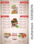 restaurant vertical color sushi ... | Shutterstock .eps vector #533538196