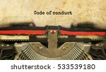code of conduct typed words on... | Shutterstock . vector #533539180