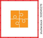 puzzle icon vector illustration ... | Shutterstock .eps vector #533545270