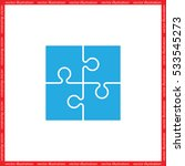 puzzle icon vector illustration ... | Shutterstock .eps vector #533545273