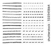 set of hand drawn lines. vector ... | Shutterstock .eps vector #533545864