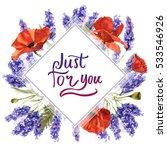 wildflower lavender flower... | Shutterstock . vector #533546926