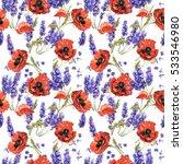 wildflower lavender flower... | Shutterstock . vector #533546980