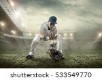 baseball players in action on... | Shutterstock . vector #533549770