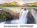 Dam Over Eresma River  Segovia...